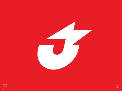 J-Letter Juice Bolt hybrid electricity charging bold strong lightning bolt battery juice