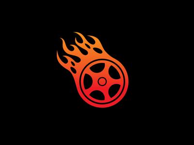 Wheel Tire Fire