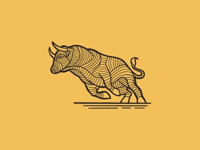 Raging Bull beast toro arena animal illustration hand-drawn art line bull rage