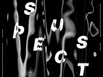 Suspect.! clean poster design abstract abstract design poster design photoshop typography clean design project clean design