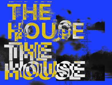 THEHOUSE.! posters poster art design project poster design photoshop abstract typography clean design clean