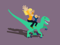 Velociraptor Family Portrait