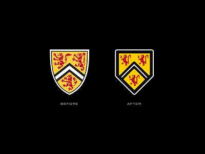 University of Waterloo Rebrand logo design shield canada kitchener waterloo university of waterloo university branding vector design illustrator logo