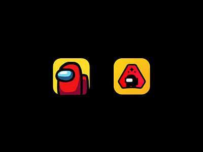Among Us App Icon gaming among us app among us game icon app icons app icon among us logo among us mascot logo ux illustration mascotlogo branding vector design illustrator esports logo