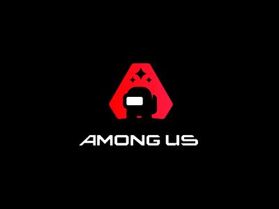 Among Us Redesign gaming website among us redesign app app icon gaming app cyperpunk gaming among us logo among us ui mascot logo illustration mascotlogo branding vector design illustrator esports logo