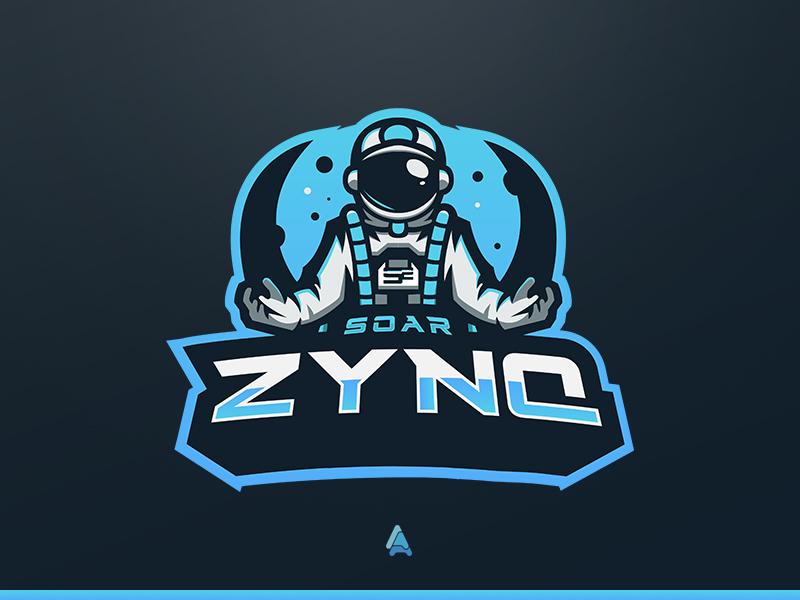 """SoaR Zynq"" Astronaut Mascot Logo soarrc soar gaming astronaut mascot logo mascot logo astronaut logo esports"