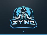 """SoaR Zynq"" Astronaut Mascot Logo"