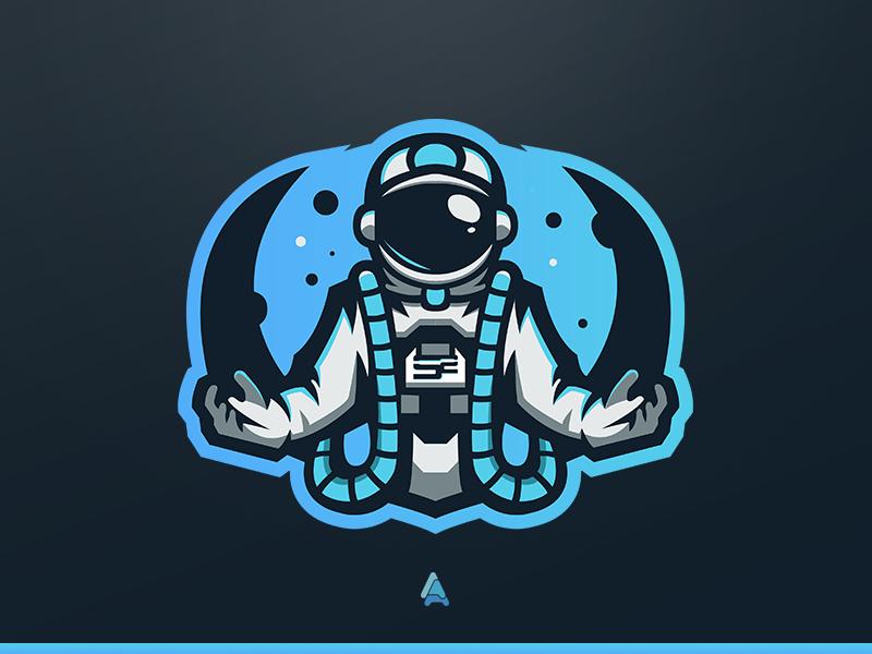 """SoaR Zynq"" Astronaut Mascot Logo space astronautmascot logo mascot logo soarrc soar gaming soar astronaut esports"