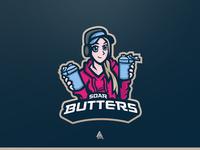 """""""SoaR Butters"""" Potrait Mascot Logo"""