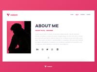 About me | Portfolio Website UI