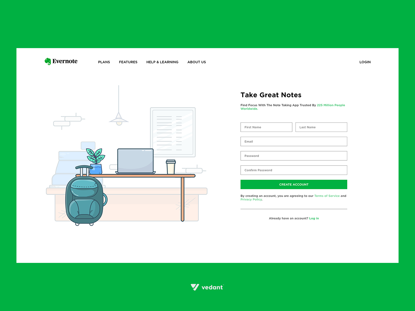 Daily UI #001 - Sign Up by Vedant Patel on Dribbble