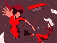 Falling People Illustration