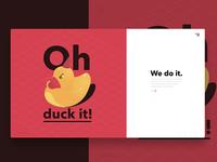 Duck It Landing Page