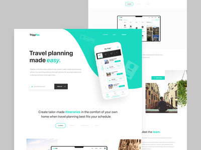Travel Planner Alternative homepage app design travel app travel user experience branding web ux ui design uiux