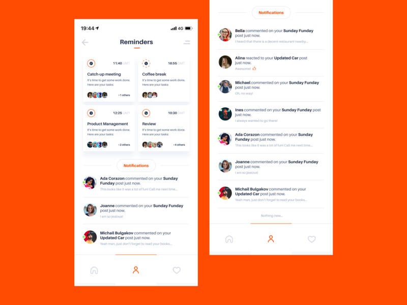 Notifications Daily UI feed dashboard tasks reminders notifications mobile ui mobile user experience ux dailyui daily uiux design ui