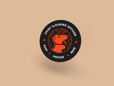 Cleaning Illustration Badge minimal badge 2020 cleaning illustration graphic design design