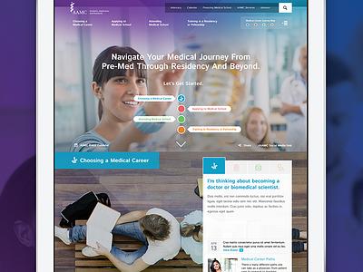 AAMC Student Hub Redesign education medical healthcare branding ux ui responsive web development design