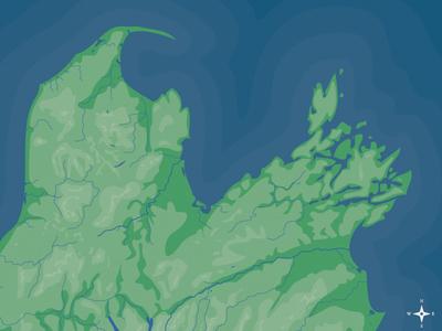 South Island Map Illustration