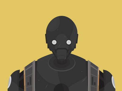 DAY 51: K-2SO robot droid k-2so k2so rogue one star wars illustration day51 100daysofillustration 100days
