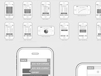 Iphone app Wireframes WIP