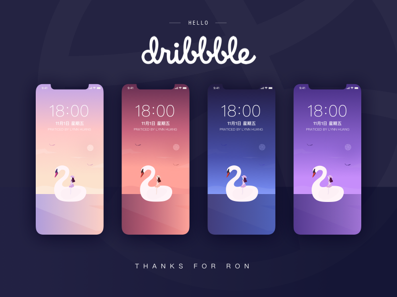 Hello Dribbble! design color hello debut creative