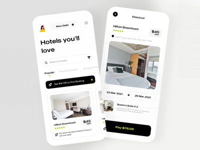 Hotel Booking Online Reservation Travel App design ios product design ecommerce app ui mobile ui checkoit payment rooms booking app coupons deal ecommerce booking hotel app holiday vacation hotel booking hotel