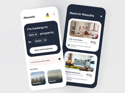 Rental Home and apartment Search Platform apartments tenant landlord ecommerce booking app property app apartments for sale platfrom rental house flat propert booking apartment product design ios app design