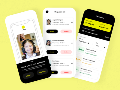 Pro Tutor -  Online Tuition and Teacher Booking App courses tution product design branding illustration ecommerce app online classes classes teacher student ed tech tutor education uidesign