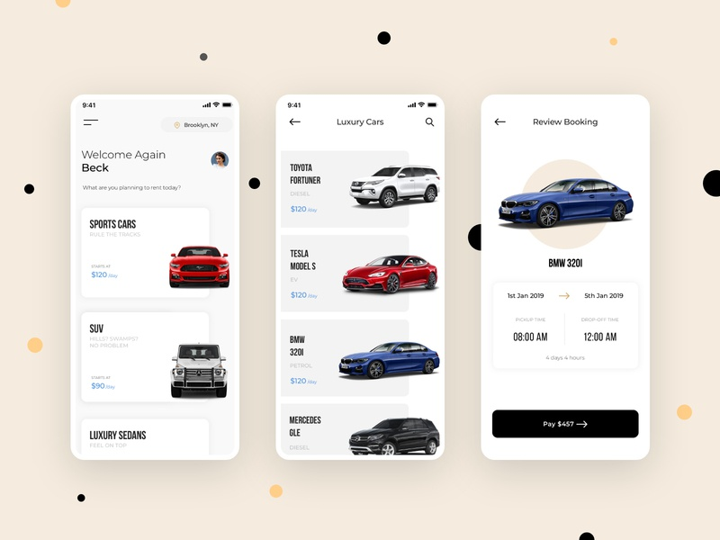 Car Rental App Concept