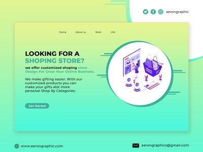 Looking For A Shoping Store? miniwebsite template business template aerongraphic graphicdesign showit template sport template mocop product template landingpage wordpress template