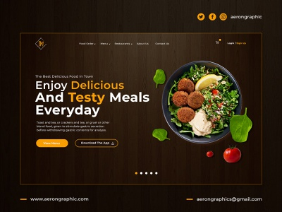 Enjoy The Delicious And Testy Meals Everyday userinterface htmlcoding bootstrap graphicdesign wordpress template digitaldesign uxdesign uidesign webdesign webtemplate