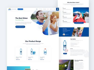Drinking water landing page