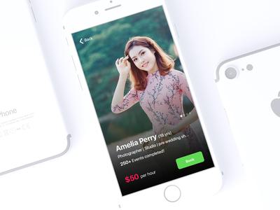 Hire Photographer App Concept