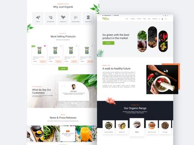 Just Organik Landing Page