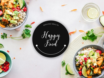 Happy Food Identity branding