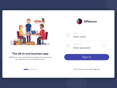Onboarding plus Sign In design ui