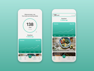 Continuous glucose tracking app