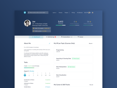 Profile Page Concept