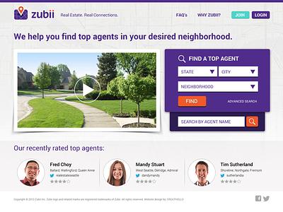 Real Estate Website web website webdesign map purple real estate housing location agents rating neighborhood video