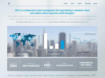 DCI Website Design web website website design financial investments graphs corporate