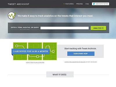 Tweet Archivist Website WIP web website website design twitter tweets tweet archivist archives search illustration payment plan subscribe