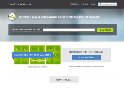 Tweet Archivist Website WIP