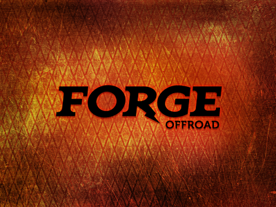 Forge Offroad Identity Concept identity logo design logo forge lightning bolt typography offroad metal rough texture hot