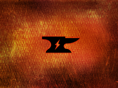 Forge Offroad Anvil logo logo design identity anvil lightning bolt forge offroad metal texture hot heat
