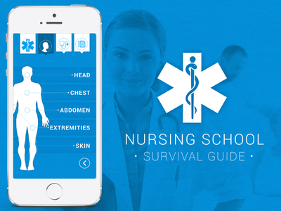 Nursing School Survival Guide app nursing app design medical iphone anatomy information