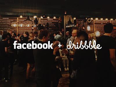 Facebook + Dribbble Seattle facebook dribbble seattle event meetup