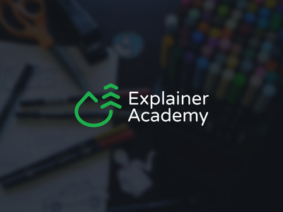 Explainer Academy Identity icon tree mountain green explanation academy logo identity