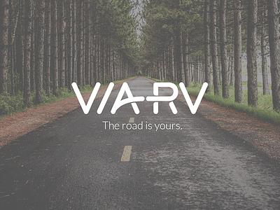 Identity for VIA RV adventure travel road friendly rv type identity logo