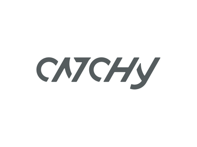 Is it Catchy? catchy angles agency identity typography type wordmark logo