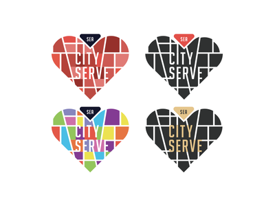City Serve - Any ideas? lines event logo heart seattle giving love help charity serve map city